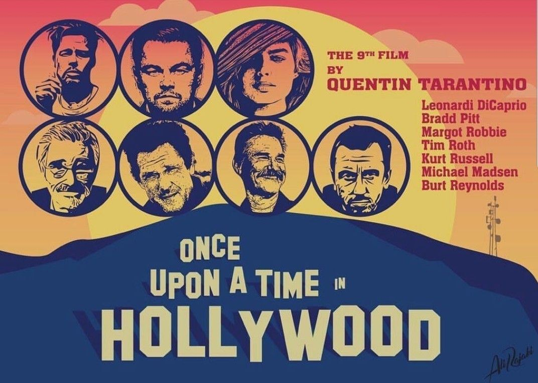 Resultado de imagen de once upon a time in hollywood poster