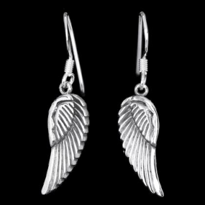 1 Paar Silberohrringe Engelsflügel Angel Wings aus 925er