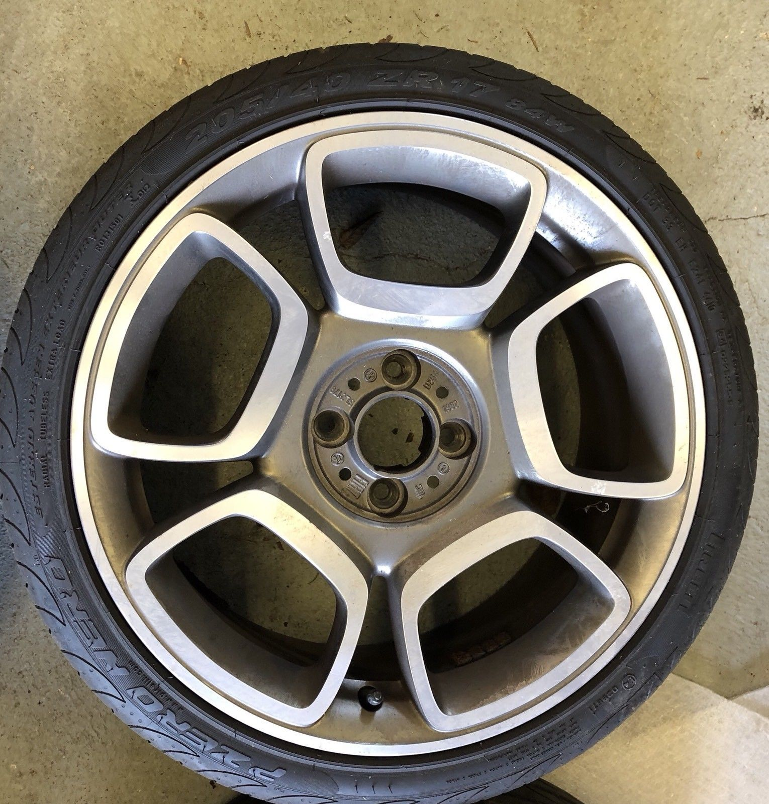 small resolution of 4 genuine fiat 500 17 abarth 595 spare petal alloy wheels from ebay 155