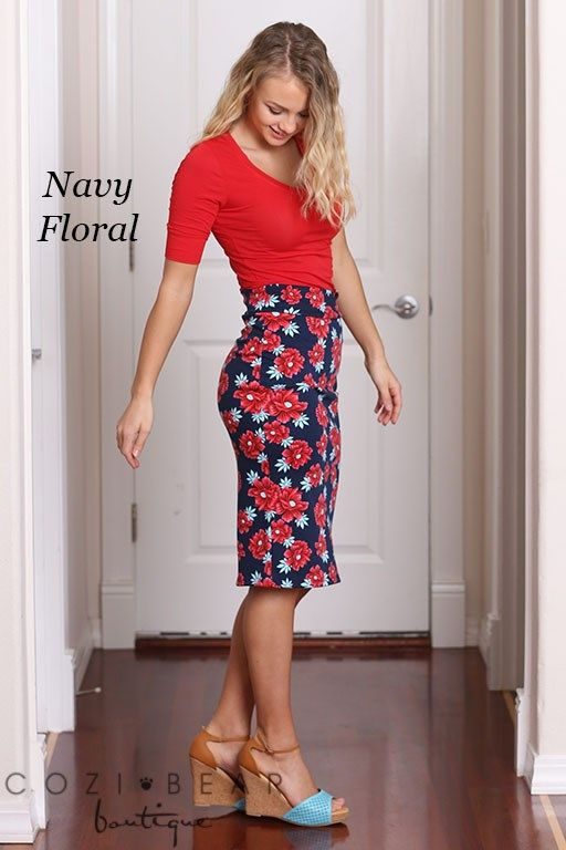 e91ca33355 These print midi skirts are a perfect way to look fashionable yet still  make a statement!