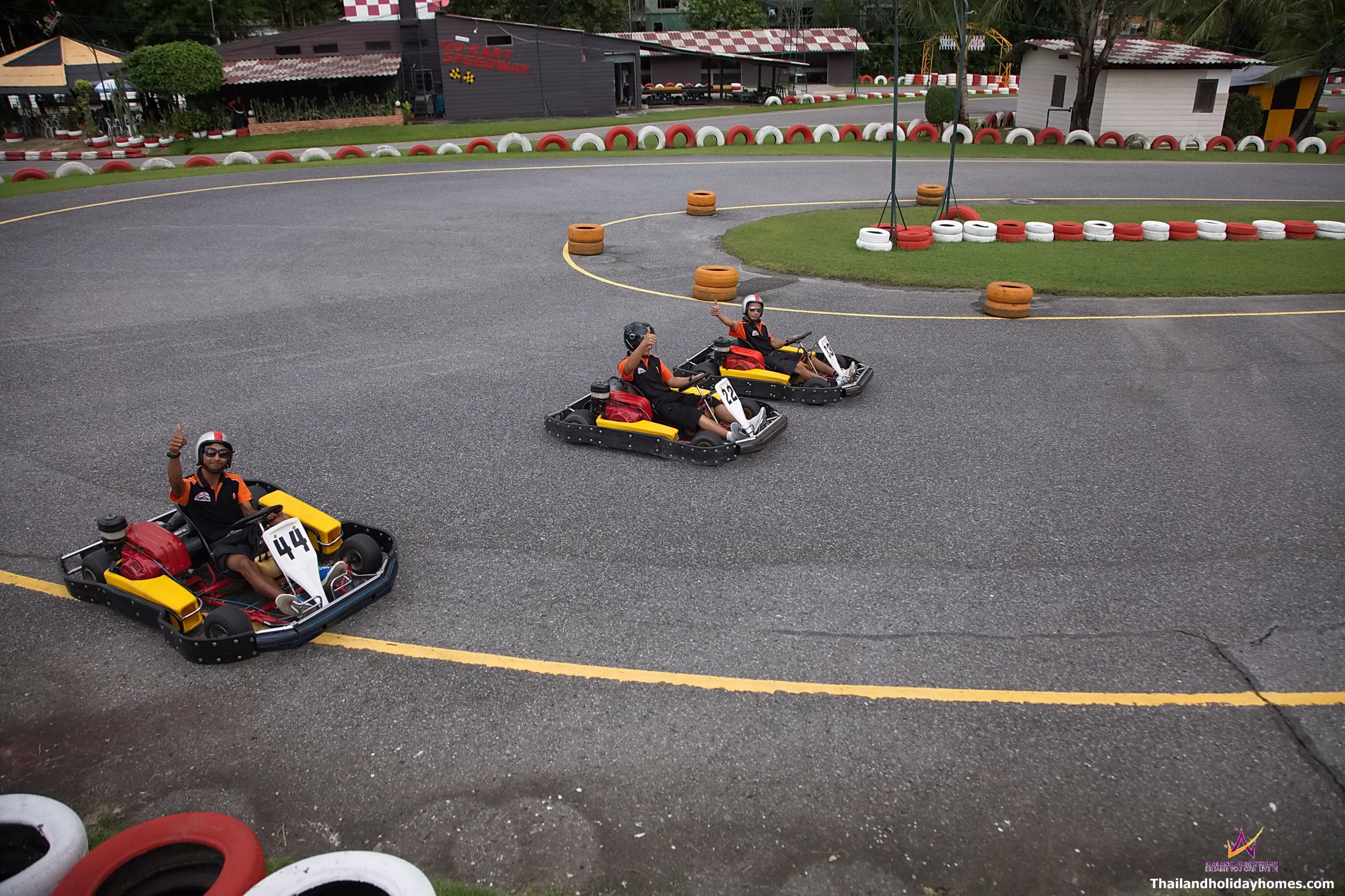 """The Secret of getting ahead is getting started."" ~ Mark Twain  Patong Go Kart Speedway - Phuket Go Cart Racing."