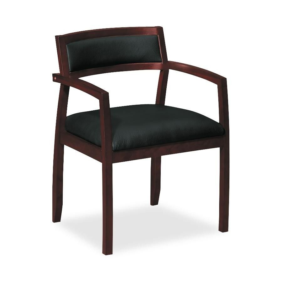 Guest chair mahoganyblack leather bsxvl852nst11