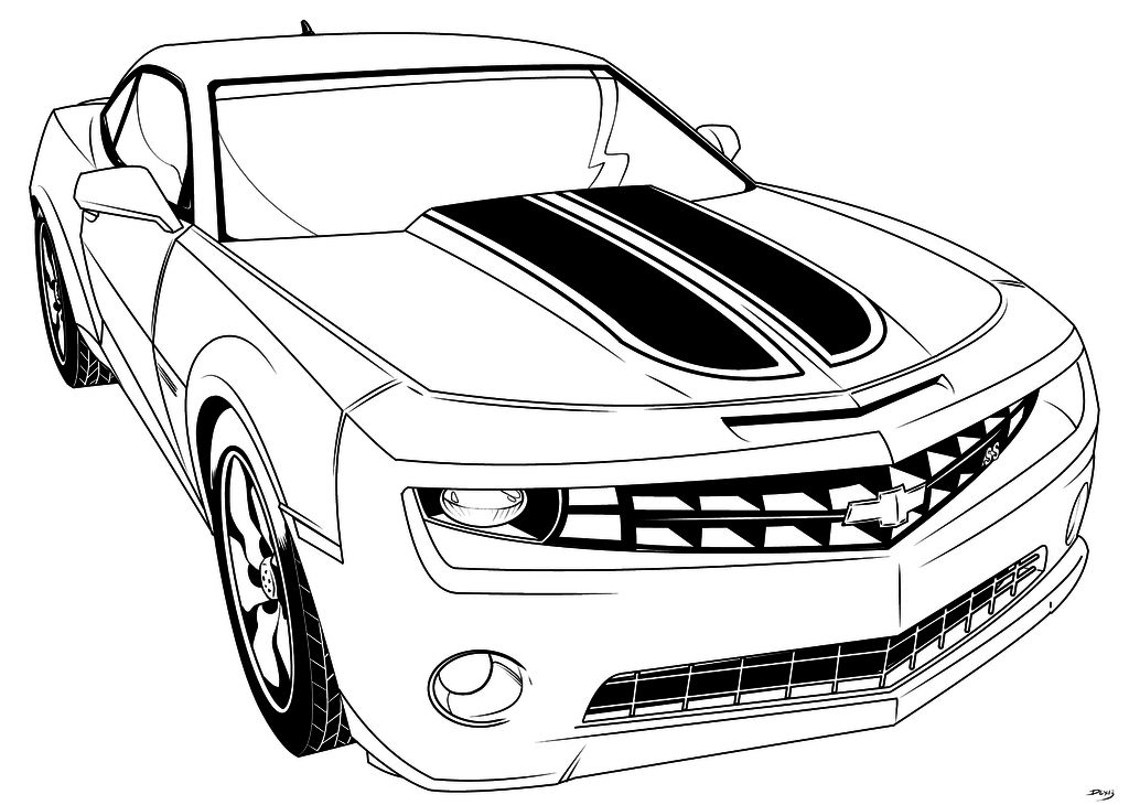 Coloring pages kids: Camaro Coloring Pages To Print