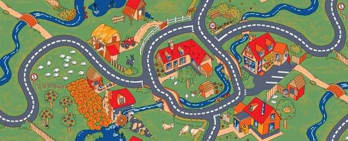 Oriental Rug Cleaning Farm Play Carpet Kids Play Rug For Home or Preschool