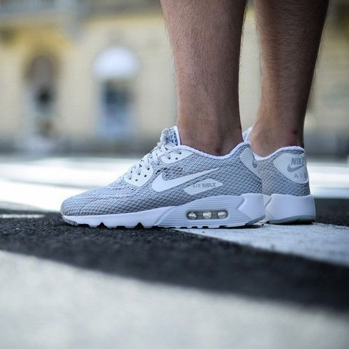 NIKE AIR MAX 90 ULTRA BREATHE PLUS QS PURE PLATINUM GREY 810170 001
