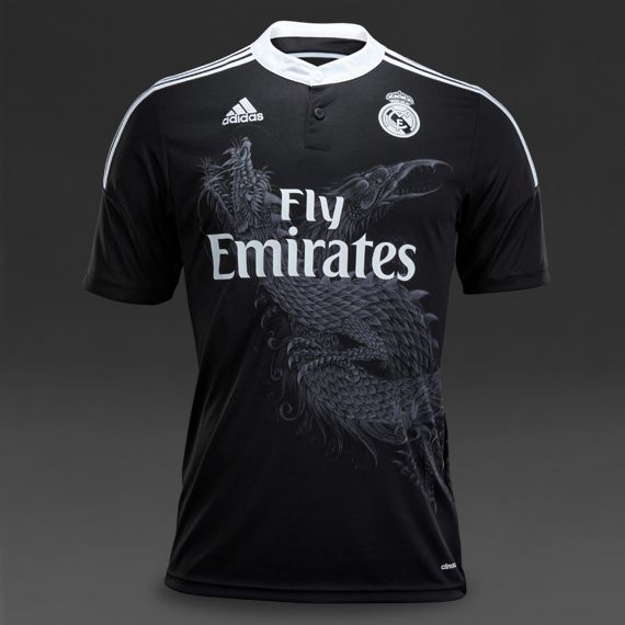 ccdb1c93b adidas Real Madrid 14 15 SS Third Shirt - Black White