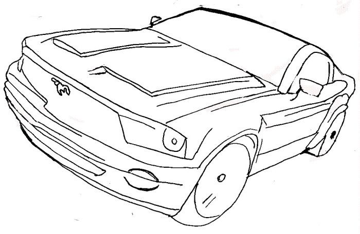 Ford GT 2004 Mustang Coloring Page | Color Pages for Kids | Pinterest