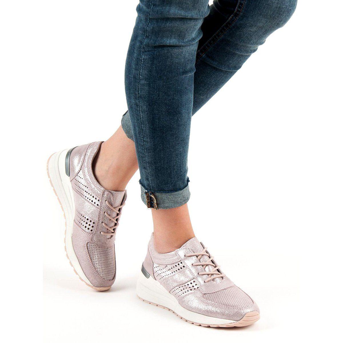Filippo Skorzane Sneakersy Na Koturnie Rozowe Tretorn Sneaker Sneakers Shoes
