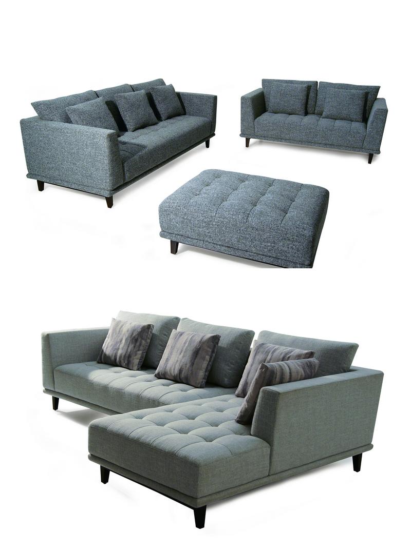 Sofa Manufacturer Modern Buttoned L Shape Sectional Sofa ...