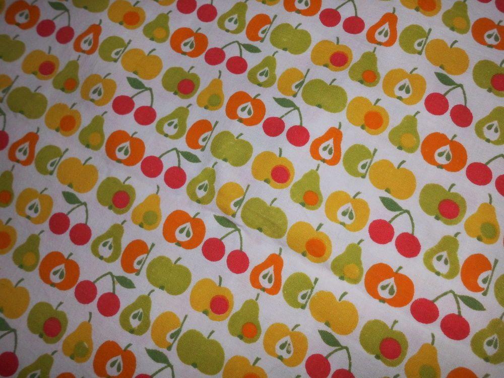 Kinder Bettwäsche 70er 80er Graziela Stoff Vintage Fabric äpfel