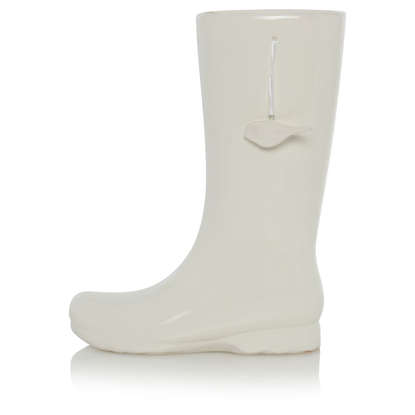 Home cream welly vase vases artificial flowers