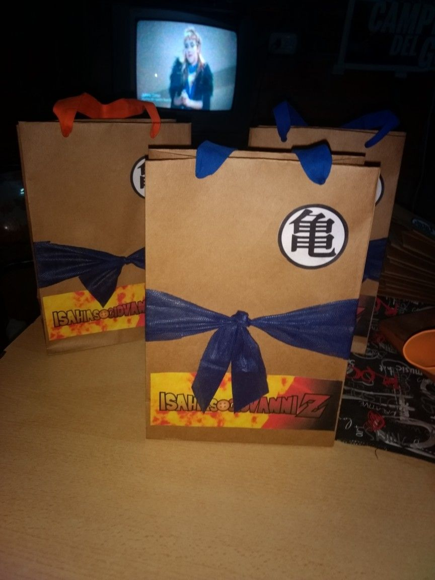 Bolsitas Goku Cumple Dragon Ball Z Paper Shopping Bag Dragon Ball