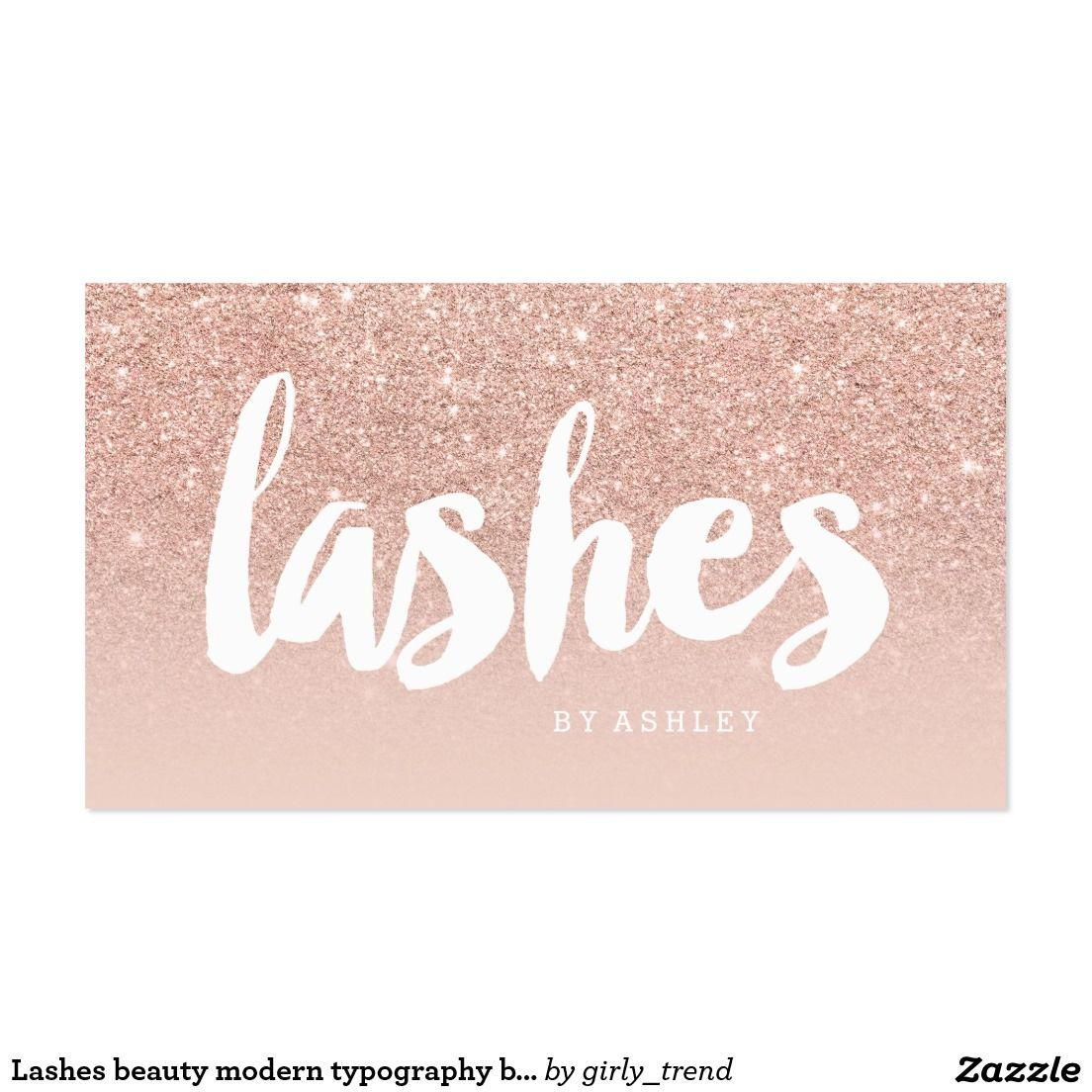 Lashes beauty modern typography blush rose gold business card lashes beauty modern typography blush rose gold business card magicingreecefo Gallery
