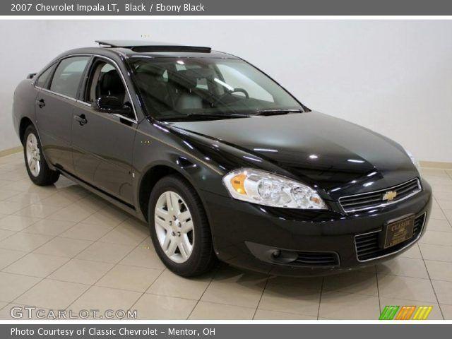 2007 Chevrolet Impala Lt >> 2007 Chevrolet Impala Lt Black On Black Black 2007