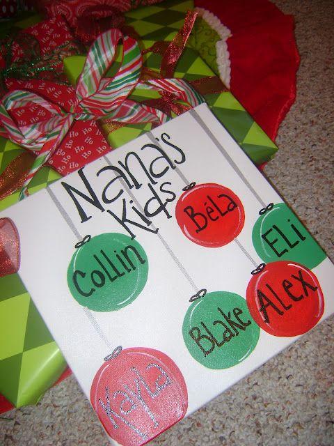 Karie Heredia Diy Christmas Canvas Gifts