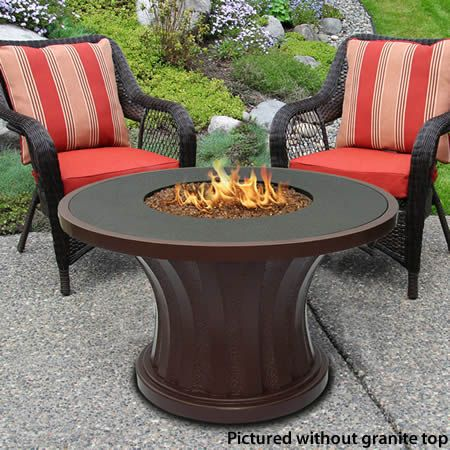 Elegant Rodeo Chat Gas Fire Pit Table