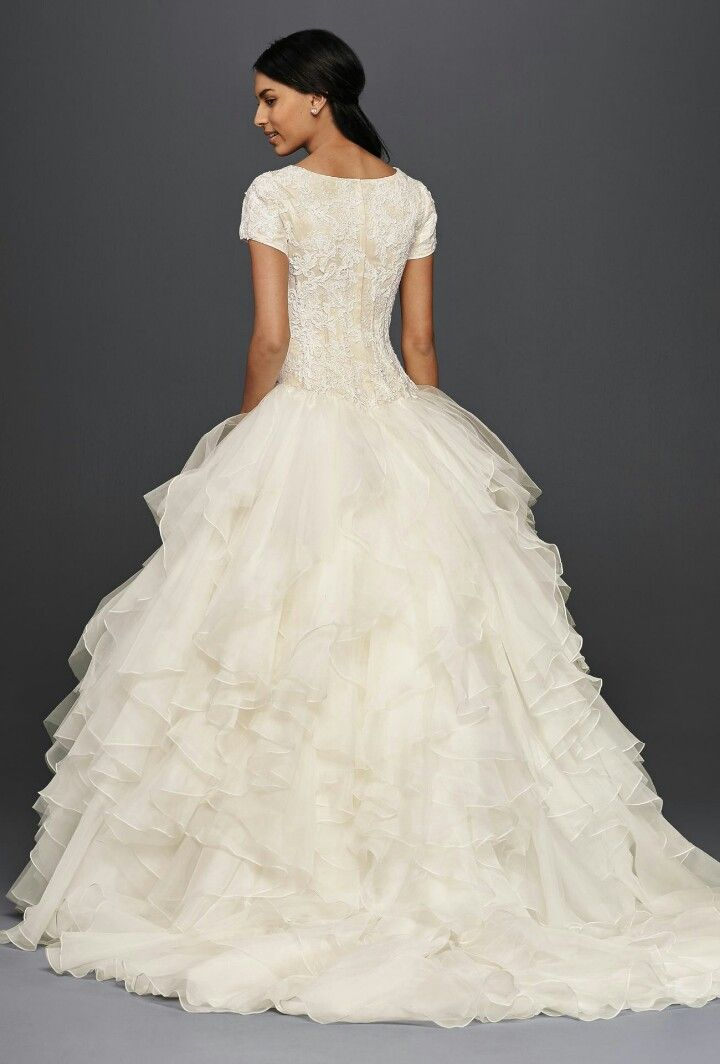 Oleg Cassini Collection for David\'s Bridal; Modest Bridal Gown ...