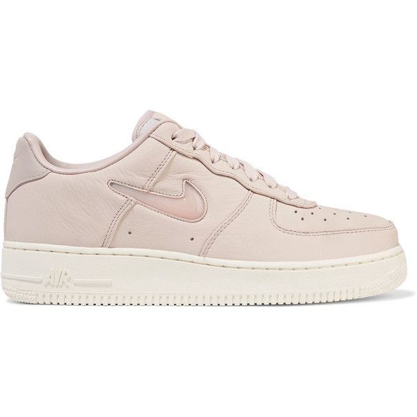 Nikelab Air Force 1 Leather Sneakers Found On Polyvore Featuring Polyvore Women S Fashion Shoes Sneakers Pastel Pink Pastel Sneakers Leather Sn Mit Bildern Schuhe See