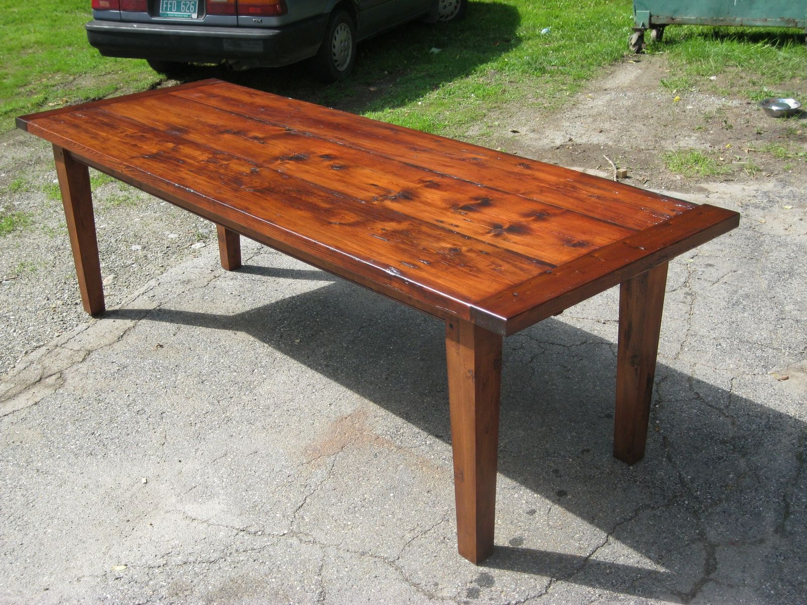 Handmade Farm Tables | Custom Made Vermont Reclaimed Lumber Farm Table