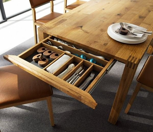 extendable dining table made of solid wood with a drawer http room decorating