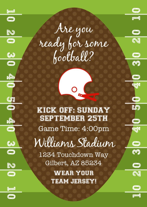 Football Party Invitations Free | Football birthday party ...