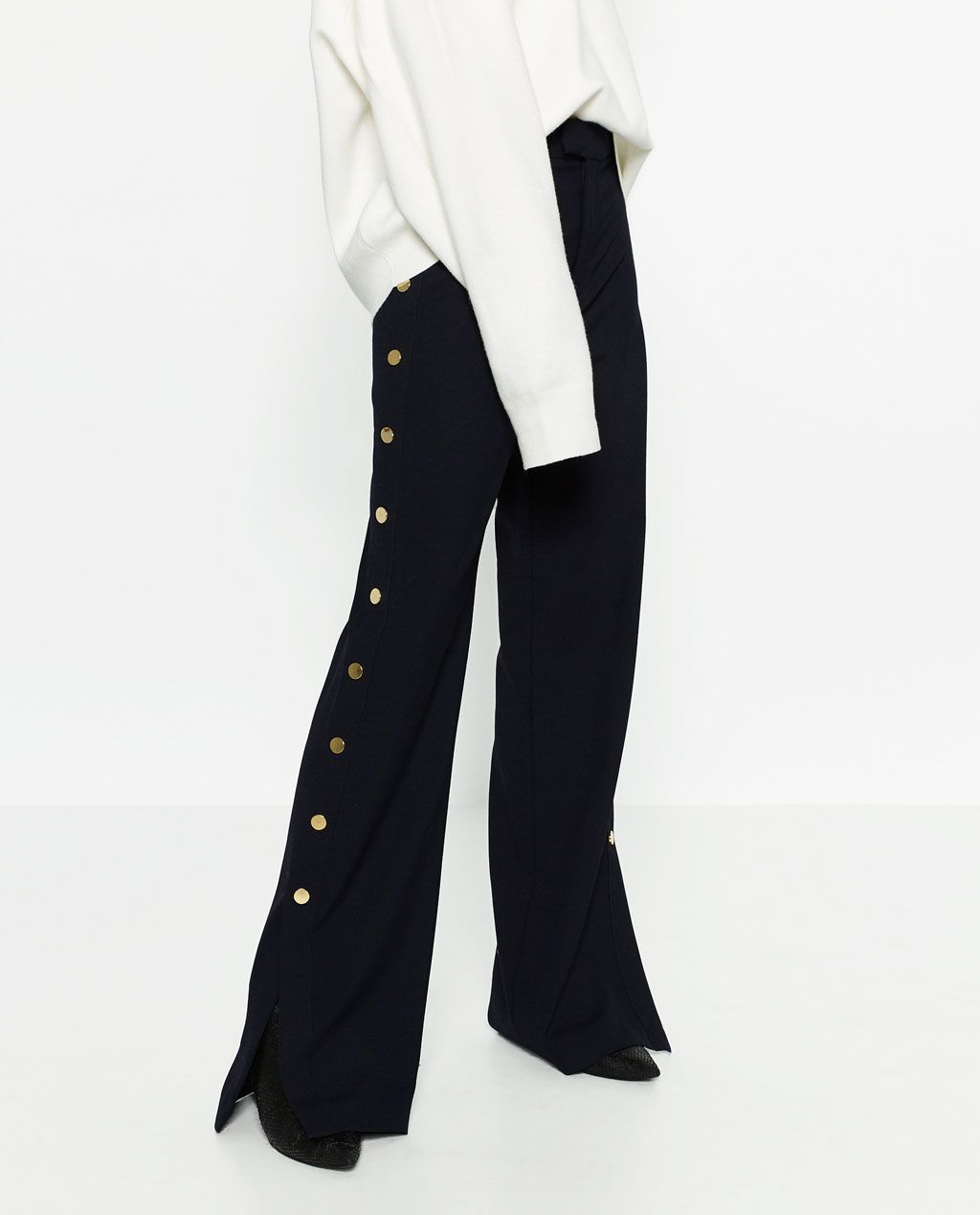 f033e92829 TROUSERS WITH GOLDEN SIDE BUTTONS-View all-TROUSERS-WOMAN | ZARA United  States