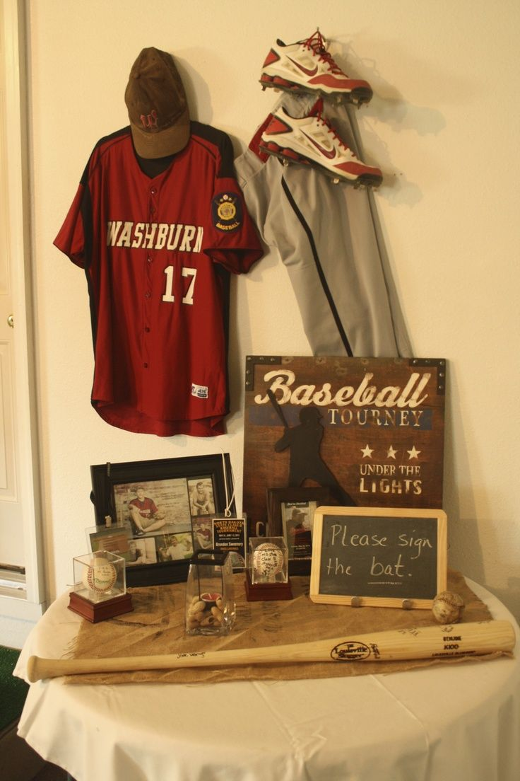 GRADUATION BASEBALL THEME | Baseball theme | Graduation ...