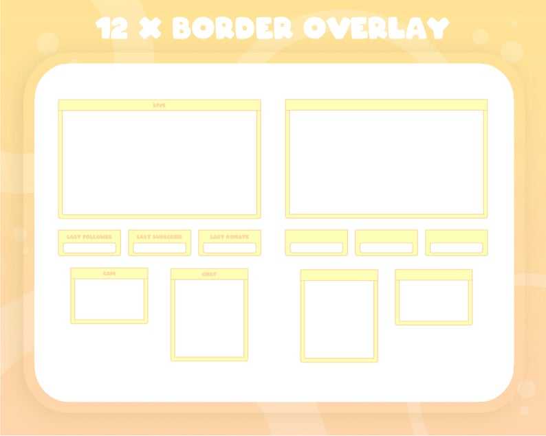 Twitch Yellow Full Stream Package Animated Transition Video Etsy Twitch Vinyl Record Art Ideas Overlays
