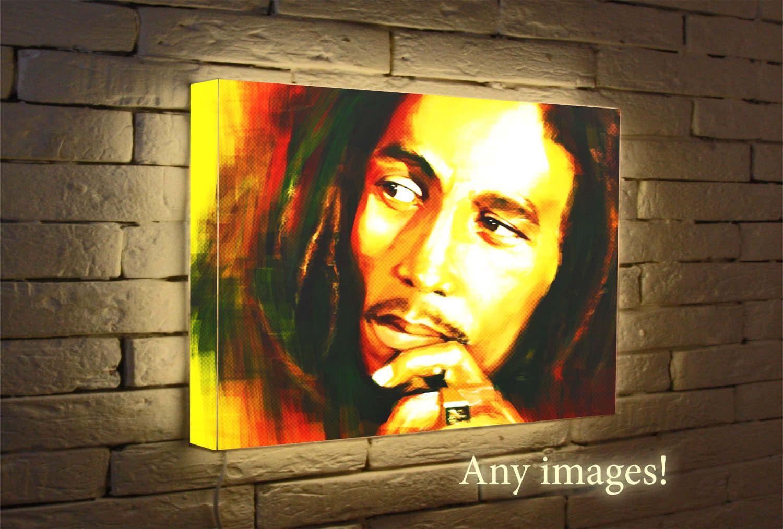 Bob Marley Custom Night Light, wall lamp, Light Box, Lighted poster ...