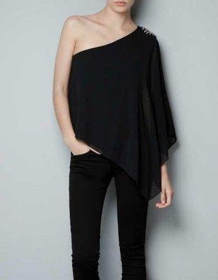 C115 Zara Nowa Bluzka Asymetryczna Cwieki Nity M 6554634586 Oficjalne Archiwum Allegro Clothes Fashion Inspo Asymmetrical Tops