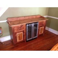Buffet Table With Wine Cooler Sideboard