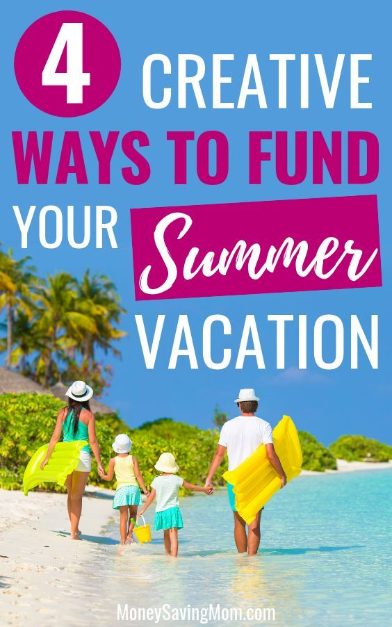 4 Creative Ways to Fund Family Vacations - don't let a tight budget get in the way from having some fun this summer! #budgettravel #budgettraveltips #familyvacation #budgetvacation