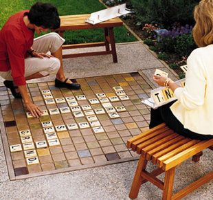 Patio Scrabble, Twister, and many other DIY games