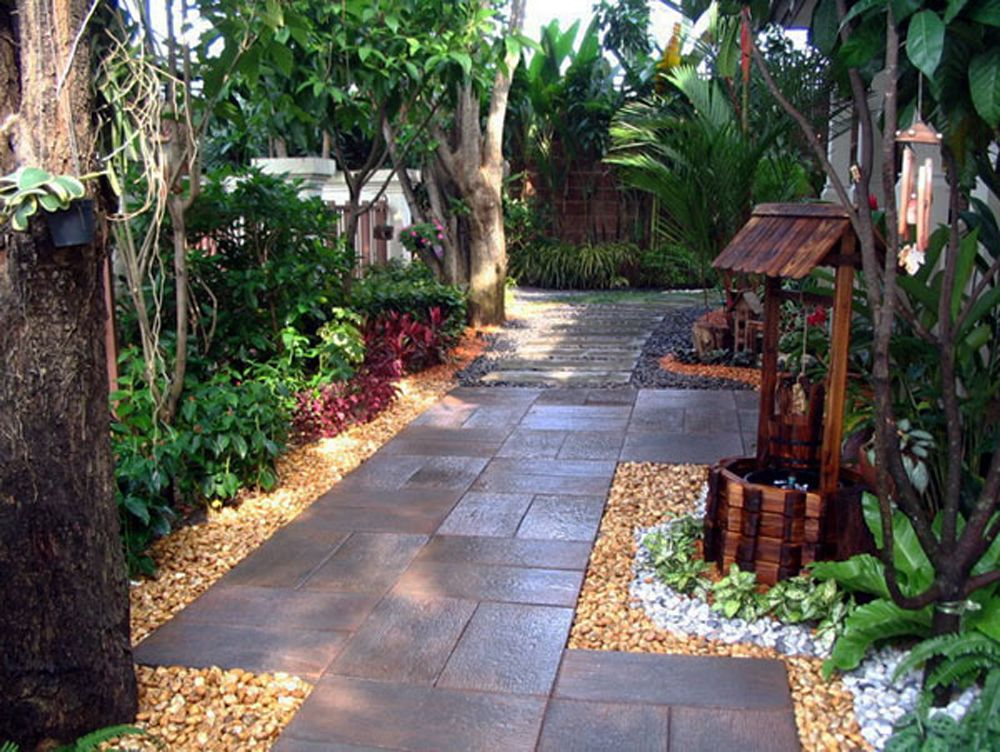Captivating Beautiful And Nature Landscape Ideas For Small Gardens Design With Stone  Step And Amazing Small Garden Design Ideas Part 7
