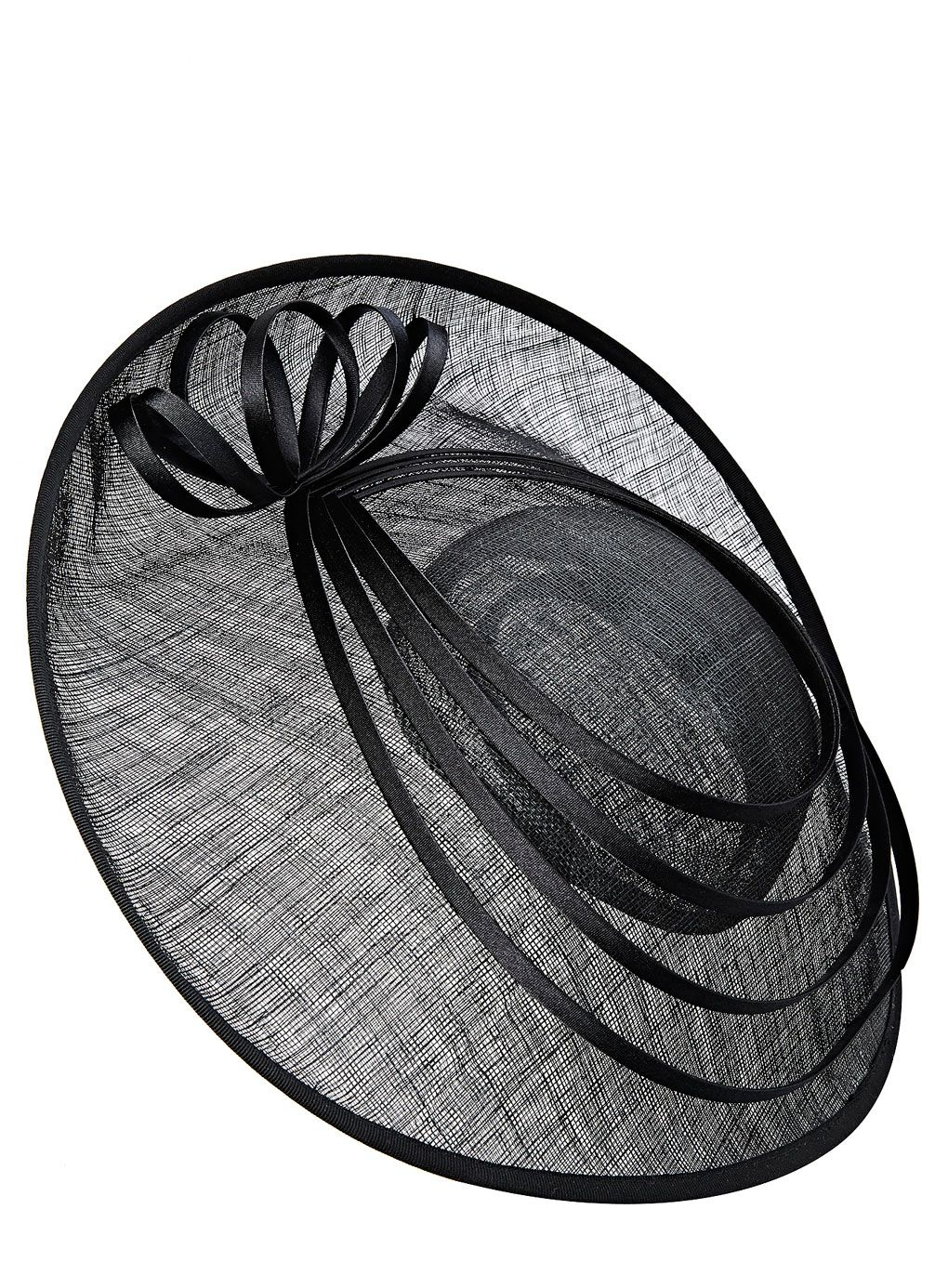 Black Spiral Ring Large Disc Fascinator Http Www Weddingheart Co