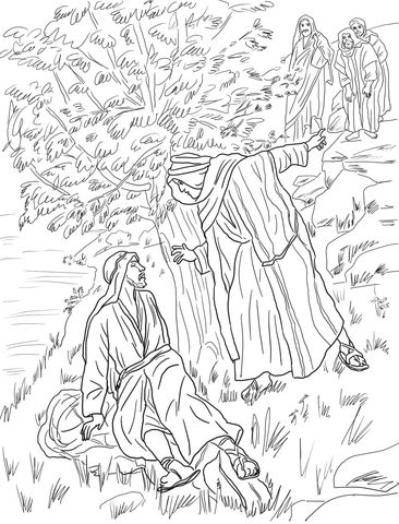 Jesus Calls Philip And Nathanael Coloring Page Bible