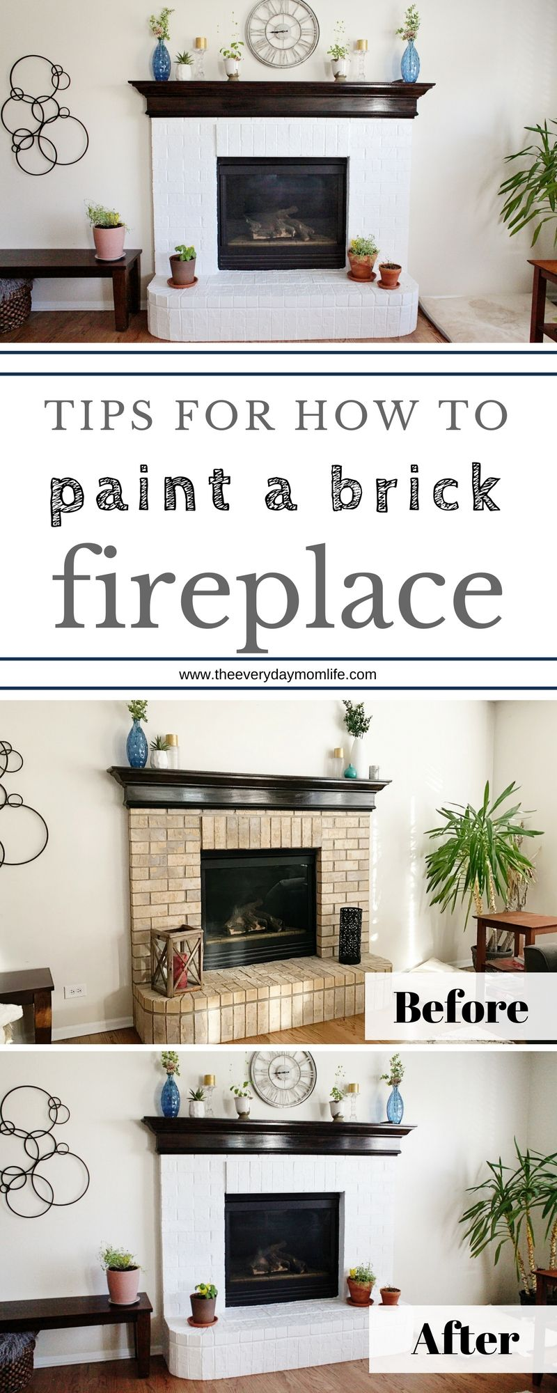 Tips For How To Paint A Brick Fireplace DIY Community Board