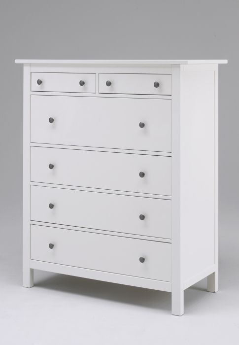Chelsea's Dresser from IKEA ~ Hemnes White Dresser (could paint ours like  this)