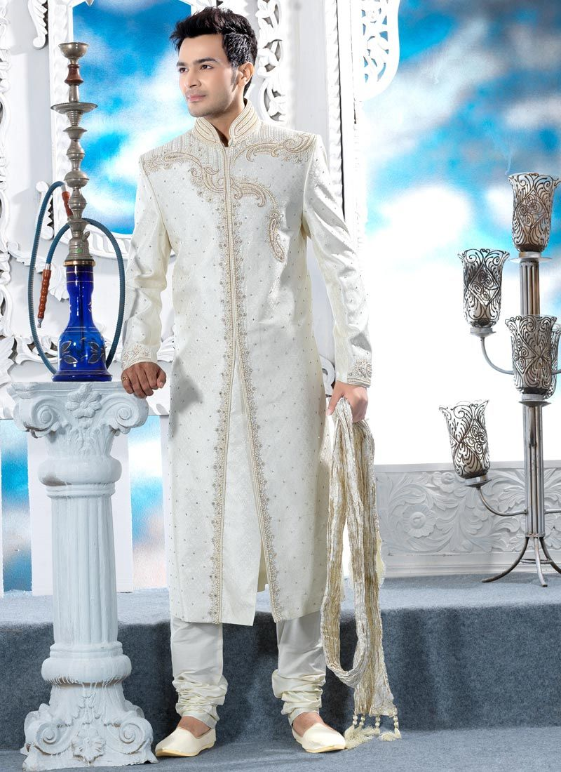 Lush Embroidered Brocade Sherwani