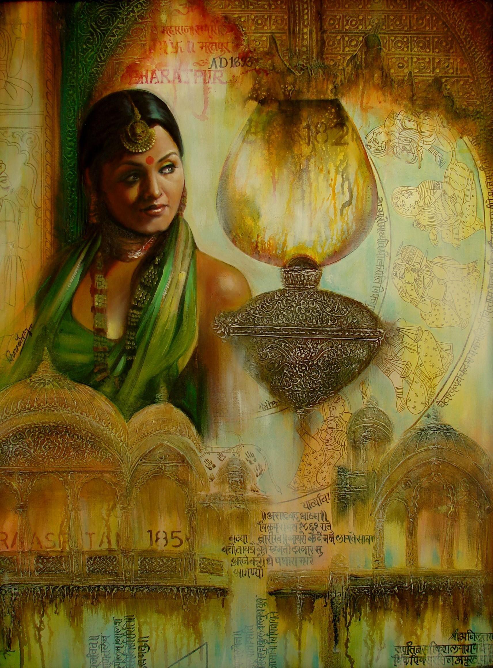 Hindu art chouhan art paintings of indian artists
