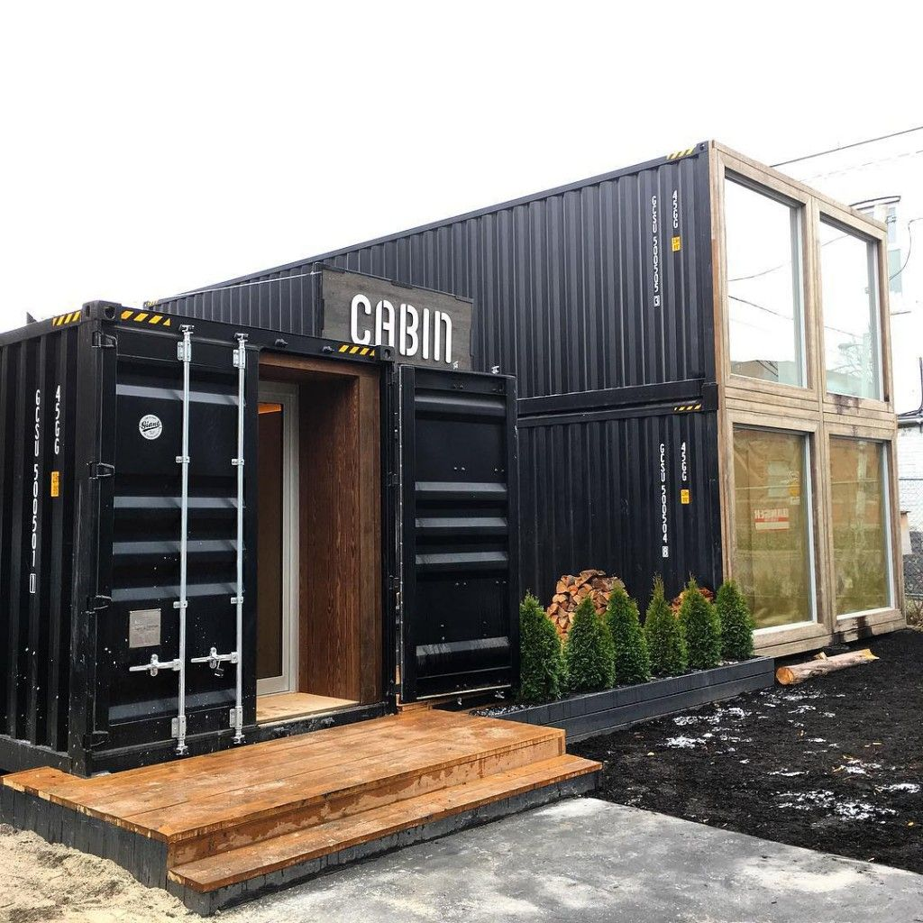 shipping container showroom cabin toronto | retail container