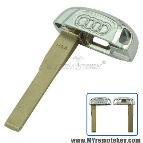 Smart emergency key blade for Audi A4 S4 A5 S5 Q5 | Smart key, Audi on lexus is300 key, honda accord key, subaru wrx key, chevrolet spark key, lexus ls 430 key, mercedes c250 key, land rover lr3 key, bmw 1 series coupe key, mitsubishi outlander key, lexus es300 key, mitsubishi galant key, 2006 audi key, dodge challenger key, audi s3 key, audi allroad key, porsche boxter key, mercedes c230 key, bmw 528i key, porsche 928 key, audi cabriolet key,