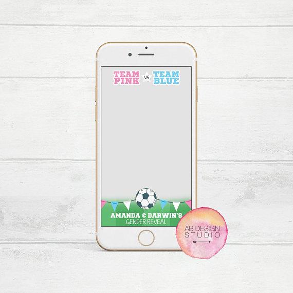 Soccer Gender Reveal Filter Soccer Snapchat Filter Gender Etsy Soccer Gender Reveal Gender Reveal Personalized Snapchat Filter