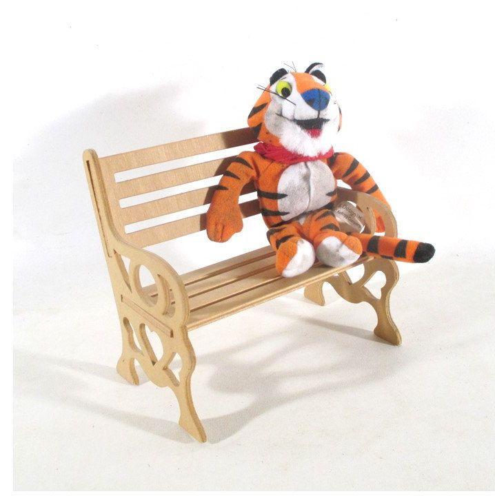 Amazing Miniature Park Bench Wood Doll Furniture Fairy Garden Camellatalisay Diy Chair Ideas Camellatalisaycom