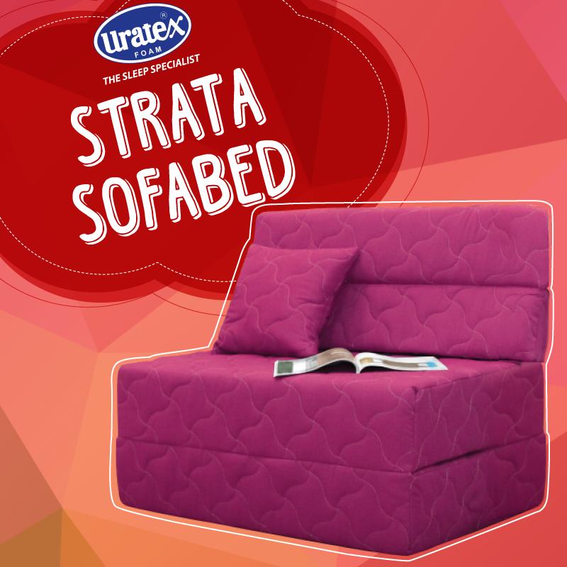 unlike regular sofa beds the uratex strata sofa bed has a higher rh pinterest com