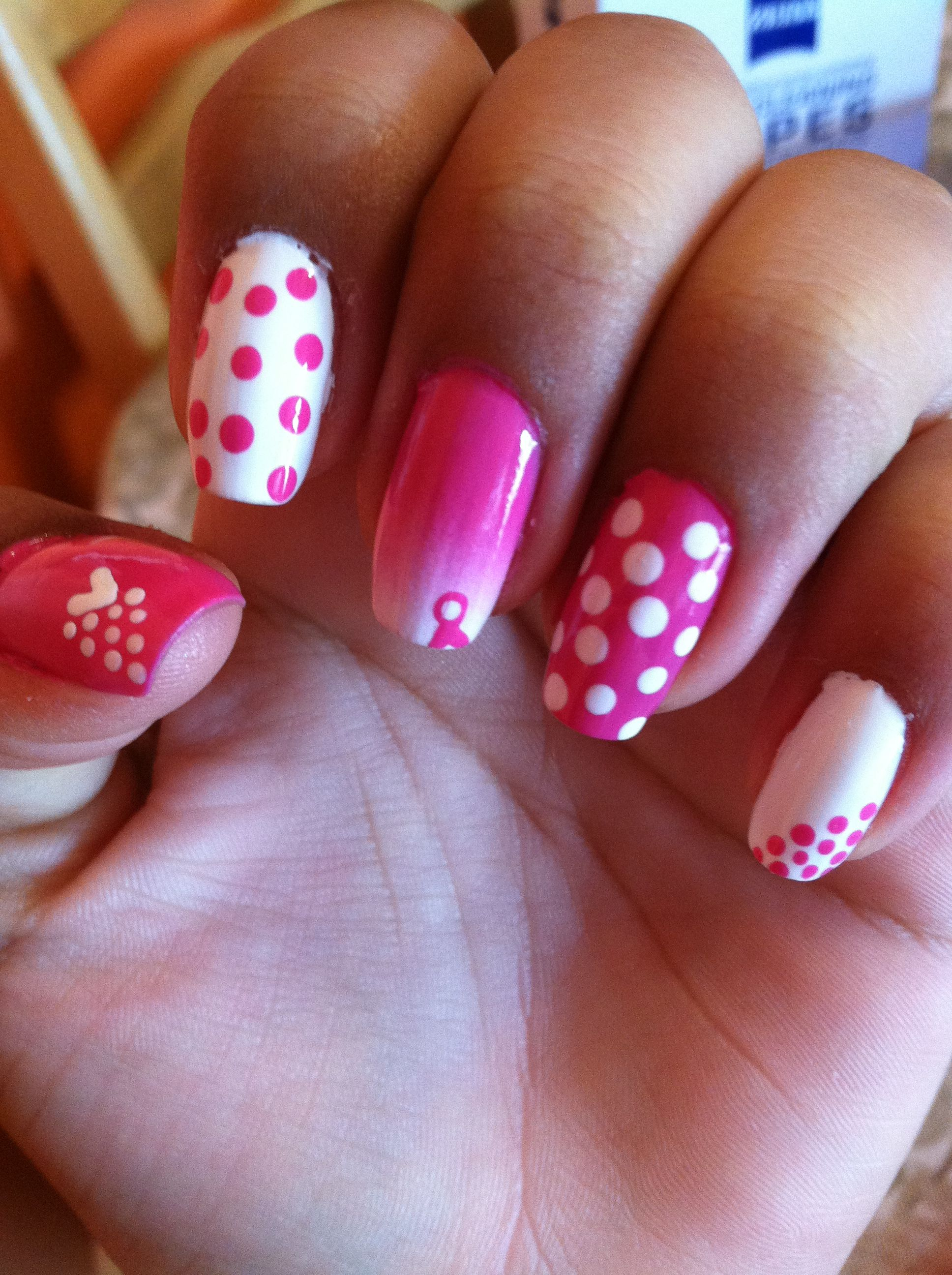 Breast cancer nails | Nails | Pinterest