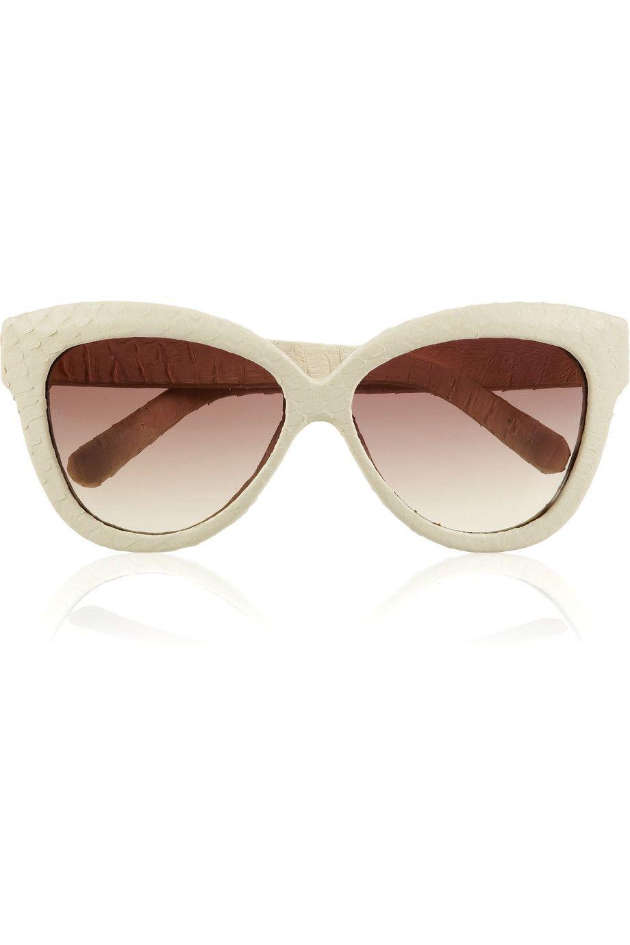 010a27214f6f Linda Farrow Luxe Cat eye snakeskin sunglasses