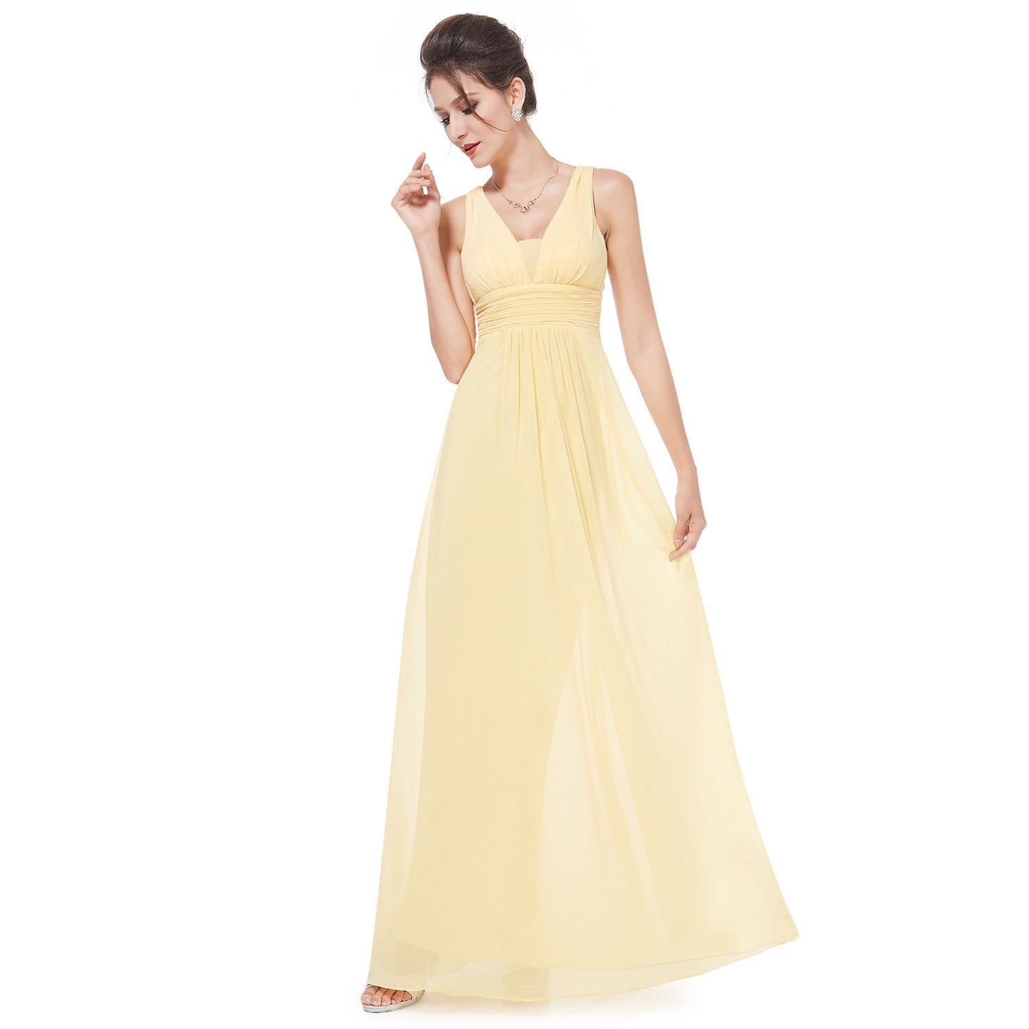 Nice women homecoming dress cocktail yellow party prom long