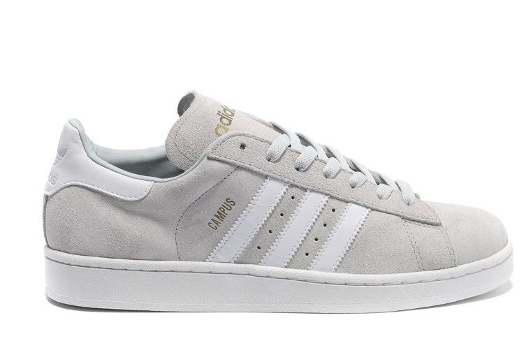 sports shoes 56b82 ca43e Adidas Campus 2 Suede hvid grå sko adidas outlet