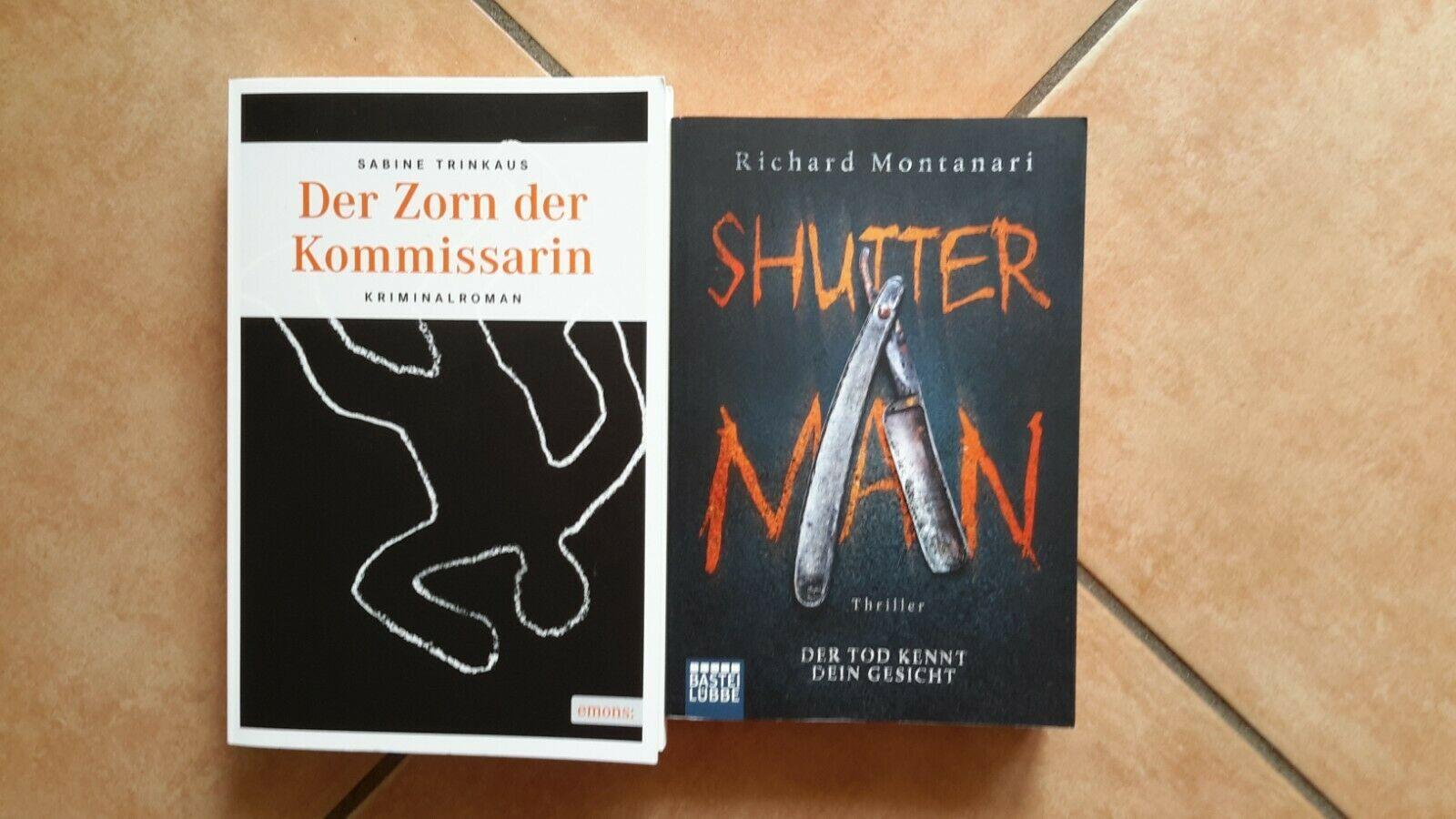 2x Krimi Thriller Tb 1 Der Zorn Der Kommissarin 2014 2 Shutter Man 2017 V 2020 G